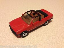 Matchbox Used 1985 BMW 323i Cabriolet Scale 1:64 Made in Macau (Red)