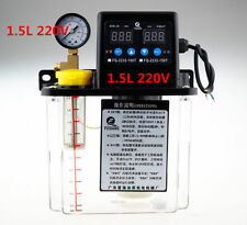 New 1.5L Dual Digital Display Automatic Lubrication Pump Oiler NC Pump 6mm 220V