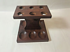 Vintage Walnut Pipe Stand Six Pipes Holder