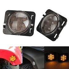 Fender Flares Led Side Maker Lights Front Packing For Jeep Wrangler 07-15 Jk Lj