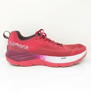 Hoka One One Womens Mach 1019280 HCJB Red Running Shoes Lace Up Low Top Size 8.5