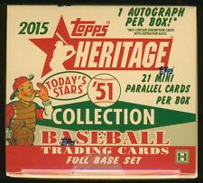 2015 Topps Heritage '51 Collection Baseball SEALED HOBBY BOX w/ AUTO