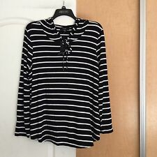 New NAIF - Black With White Strips Hooded Women Top Plus Size 2X