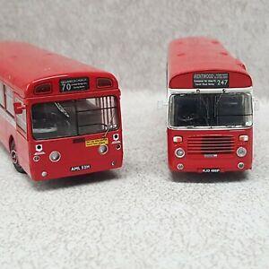2 X BRITBUS MODELS  USED NO BOXES LONDON TRANSPORT.