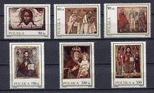 35998) POLAND 1989 MNH** Icons 6v