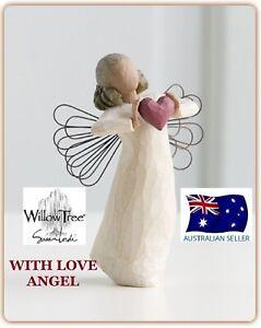 WITH LOVE ANGEL Demdaco Willow Tree Figurine By Susan Lordi BRAND NEW 26182