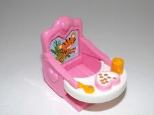 Fisher Price Loving Family Dollhouse Twins Girl Pink Booster Chair Food Nursery
