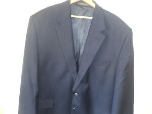 Van Heusen Navy Sports Jacket Coat Blazer Wool Man's 48 Regular NWT