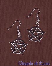 Orecchini amuleti talismani PENTACOLO STELLA 5 PUNTE esoterismo wicca magia