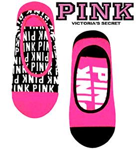 Victoria's Secret PINK Ultimate No Show Ankle Socks Brght Red ¹Set + Bonus! $14