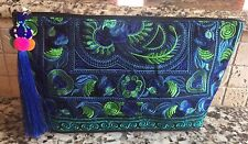 Hand Made In Thailand Embroidered Cotton Clutch Spring/Summer Bag NWT