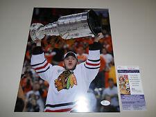 Jonathan Toews Signed 11x14 Photo JSA #M65149 Stanley Cup Chicago Blackhawks NHL