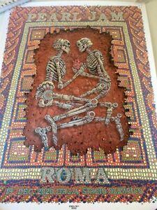 Pearl Jam Poster Rome 19/12/20  Emek 2020