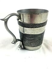 New listing Mullingar Pewter Mug Vintage Book of Kells Ireland Collectible