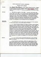 1989 Odell Jones West Palm Beach Tropics signed contract - Senior League SPBA