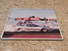 "Vintage Pro Stock Racer Larry Peternel Framed Poster Print approx 16"" x 20"""
