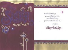 Hallmark Birthday Greeting Card for Sister From Sister--Glitter Accents