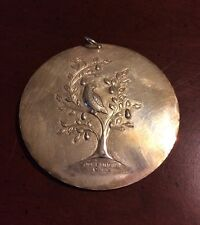 1971 Towle Peace Dove Partridge Christmas 1st Sterling Silver Ornament Pendant