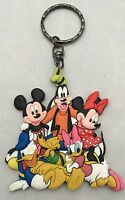 Walt Disney Parks Keychain Ring Mickey & Minnie Mouse Goofy Pluto Donald Daisy
