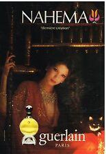 Publicité Advertising 1980 Le parfum Nahema de Guerlain