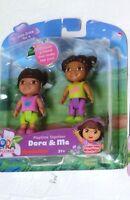 Dora Family Figures Explorer playtime Together Dora me friends brown hair