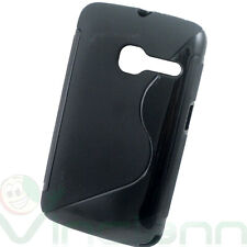 Custodia flessibile in tpu WAVE NERO per Alcatel One Touch Tribe 3040 3040D