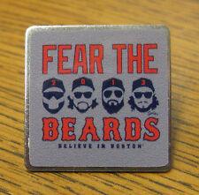 FEAR THE BEARDS Believe in Boston Red Sox Baseball Pin World Series 2013 W.S.