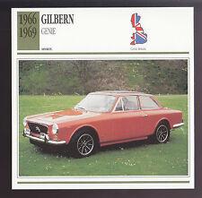 1966-1969 Gilbern Genie British Car Photo Spec Sheet Info ATLAS CARD 1967 1968