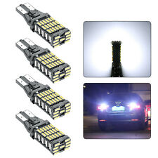 4x Bright 45SMD LED Bulb Car Reverse Light T15 921 Canbus Error Free Backup Lamp
