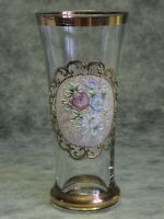 Antique Handpainted Bohemian Biedermeier Glass Beaker / Tumbler