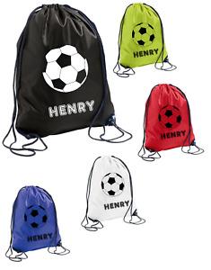 Personalised Girls Boys Football Drawstring School PE Sports Gym Bag
