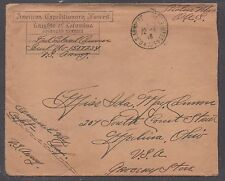 **US Amer Expeditionary Forces, Overseas Censored Cover, Soldier's Mail