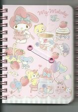 Sanrio My Melody Spiral Notebook Hard Cover Berries Dessert