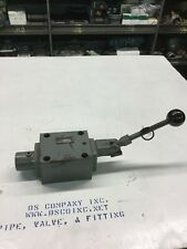 John S. Barnes Hydraulic Valve Lever Operated Model: WH-230-A