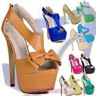 Zapatos de mujer salón plataforma tacón alto nuevos sandalias OUTLET