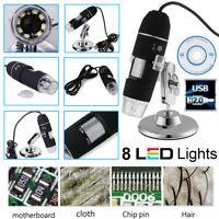 500X/800X/1000X Digital Microscope 8 LED Magnifier Camera USB 2.0 Zoom Endoscope