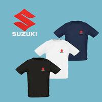 Suzuki T Shirt M-3XL Auto Logo Brodé Homme Maglietta Tee Shirt GSXR Moto GP