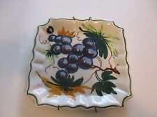 Italian Made In Italy Tray Plate Wall Hanging 7 x 7 Inches Collectible