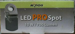 2x RITOS/REV LED PRO Spot ohne Bewegungsmelder, 10W/ schwarz, IP54