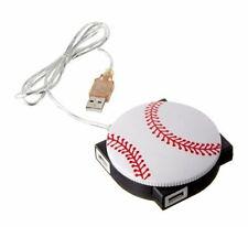 StealStreet 1607-BASEBALL 4 Port Sports Themed 2.0 USB Hub Baseball