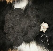 Schafwolle Schurwolle Strickgarn Naturprodukt 1000g Wolle dunkelgrau