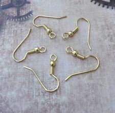 Plaqué or crochet earwires boucles d'oreilles composants oreille crochets pack de 20