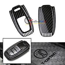 Carbon Fiber Remote Smart Key Fob Shell Cover For Audi A3 A4 A5 A6 A7 A8, etc