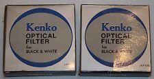 Kenko Optical Filter Camera Black & White 2 pcs 46.0s YA3 PO1 New Lens Vtg