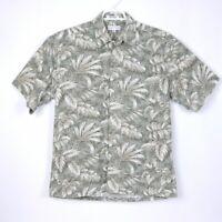 Pierre Cardin Mens Size M Floral Tropical Hawaiian Shirt 100% Cotton Medium Med