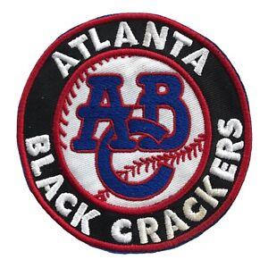 "ATLANTA BLACK CRACKERS NEGRO LEAGUE BASEBALL 3.5"" ROUND TEAM PATCH"