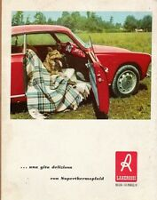 PUBBLICITA'1955 LANE ROSSI LANA ZEPHIR COPERTA SUPER THERMO PLAID AUTO ALFA GITA