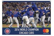 2017 Chicago Cubs 6/11/17 SGA Flag Banner 2016 World Series Champions Final Out