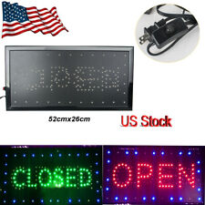 Bright 2in1 Open&Closed Led Neon Light Shop Store Business Sign Display Cafe Bar