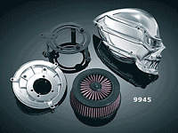 Kuryakyn Skull Stage 1 air filter kit Harley-Davidson FLH 2008-2012 9946